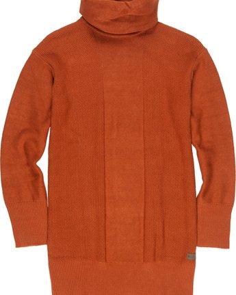 3 Delta - Robe-Pull à col roulé pour Femme Orange Q3DRA5ELF9 Element