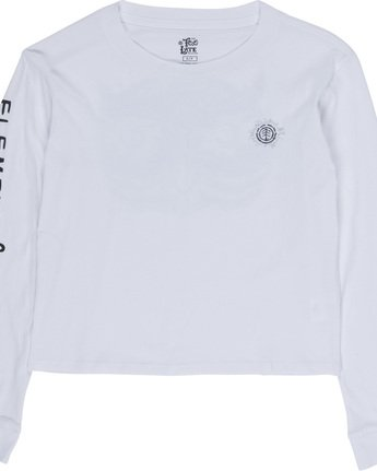 2 Timber - Cropped Long Sleeve T-Shirt White Q3LSA2ELF9 Element