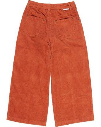 3 Wide Awake - Wide Leg Corduroy Trousers Orange Q3PTA4ELF9 Element