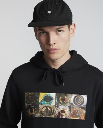 2 National Geographic Optical - Recycled Hoodie for Men Black S1HOC4ELP0 Element