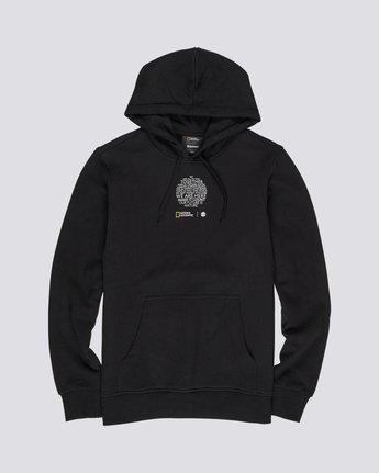 3 National Geographic Roots Fleece - Recycled Hoodie for Men Black S1HOC5ELP0 Element