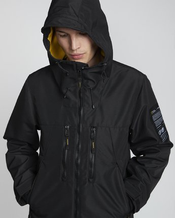 6 National Geographic Aether - Recycled Waterproof Jacket for Men Black S1JKC7ELP0 Element