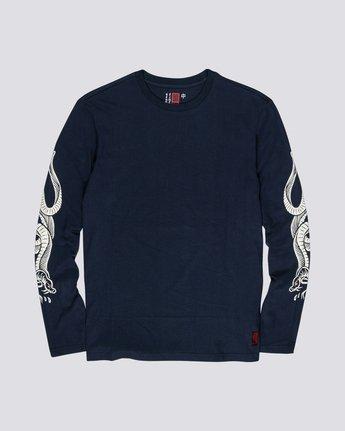 Timber! Go East Snakes - Organic Cotton Long Sleeve T-Shirt for Men  S1LSB1ELP0