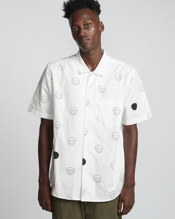 Polka Smile - Woven Tops for Men  S1SHA3ELP0