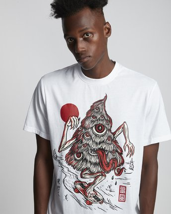 3 Timber! Go East Tree Ghost - Organic Cotton Short Sleeve T-Shirt for Men White S1SSD2ELP0 Element