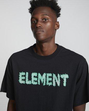2 Tetsunori Tawaraya Lettering - Short Sleeve T-Shirt for Men Black S1SSE2ELP0 Element