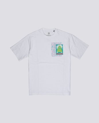 3 Tetsunori Tawaraka Pyramid Man - Short Sleeve T-Shirt for Men White S1SSE3ELP0 Element