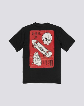 4 Love Passion Death - Short Sleeve T-Shirt for Men Black S1SSF5ELP0 Element