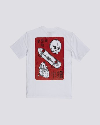 1 Timber! Go East Love Passion Death - Organic Cotton Short Sleeve T-Shirt for Men White S1SSF5ELP0 Element