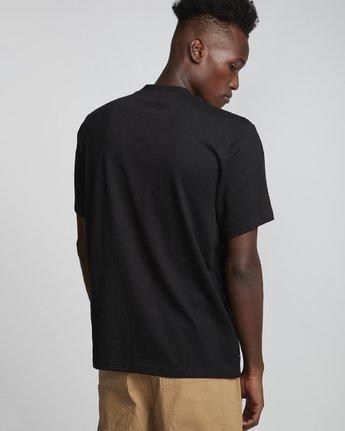 1 Wbyc - Organic Cotton Short Sleeve T-Shirt for Men Black S1SSF9ELP0 Element