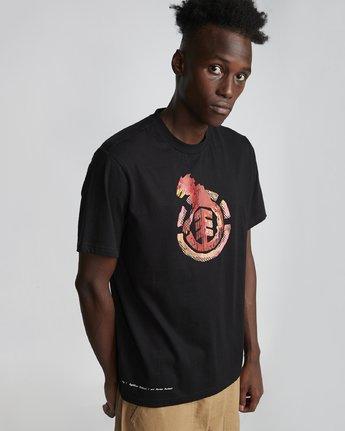 2 Wbyc - Organic Cotton Short Sleeve T-Shirt for Men Black S1SSF9ELP0 Element
