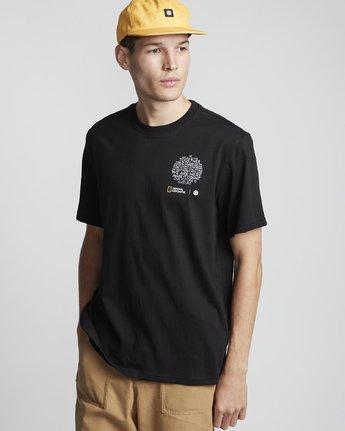1 National Geographic Sun - Organic Cotton Short Sleeve T-Shirt for Men Black S1SSG8ELP0 Element
