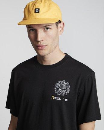 2 National Geographic Sun - Organic Cotton Short Sleeve T-Shirt for Men Black S1SSG8ELP0 Element