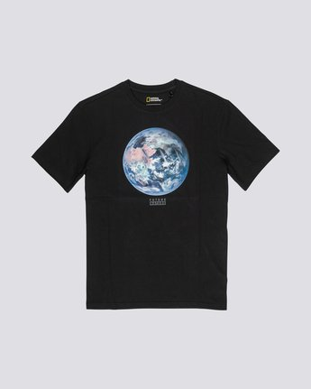 3 National Geographic Earth - Organic Cotton Short Sleeve T-Shirt for Men Black S1SSG9ELP0 Element