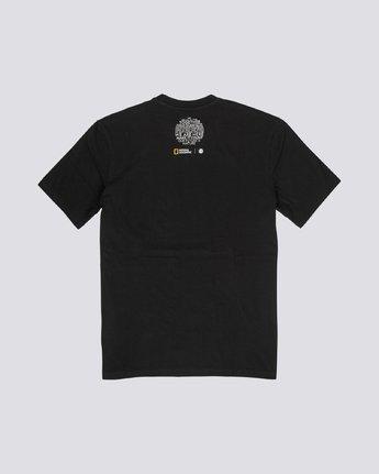 4 National Geographic Geyser - Organic Cotton Short Sleeve T-Shirt for Men Black S1SSH1ELP0 Element