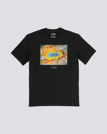 3 National Geographic Geyser - Organic Cotton Short Sleeve T-Shirt for Men Black S1SSH1ELP0 Element