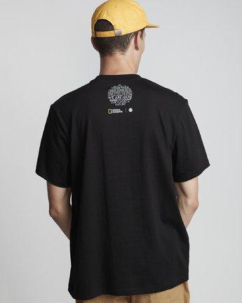 1 National Geographic Geyser - Organic Cotton Short Sleeve T-Shirt for Men Black S1SSH1ELP0 Element