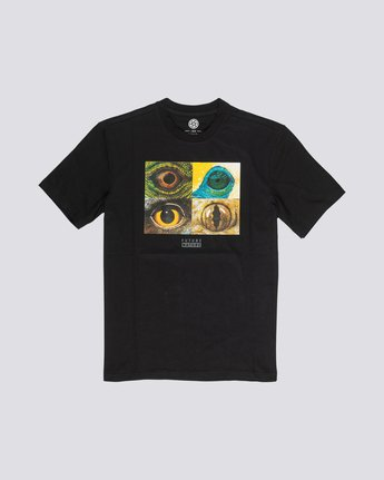 3 National Geographic Optical - Organic Cotton Short Sleeve T-Shirt for Men Black S1SSH2ELP0 Element