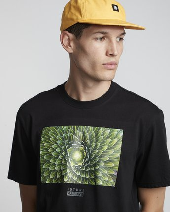 2 National Geographic Spiral - Organic Cotton Short Sleeve T-Shirt for Men Black S1SSH3ELP0 Element