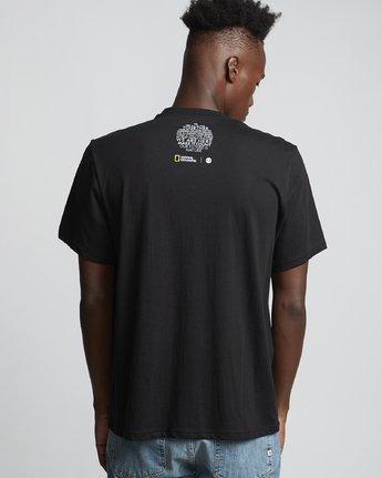 1 National Geographic Micro - Organic Cotton Short Sleeve T-Shirt for Men Black S1SSH4ELP0 Element