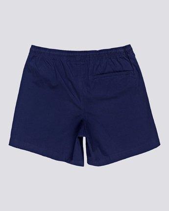 "3 Vacation 16"" - Elastic Waist Shorts for Men Blue S1WKC1ELMU Element"