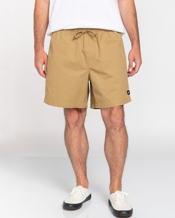 "4 Vacation 16"" - Elastic Waist Shorts for Men Brown S1WKC1ELMU Element"