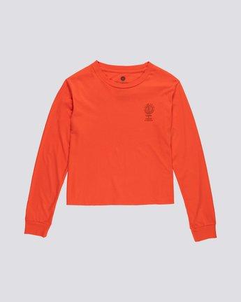 0 Christa Crop - Organic Cotton Long Sleeve T-Shirt for Women  S3LSA3ELP0 Element