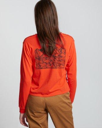 3 Christa Crop - Organic Cotton Long Sleeve T-Shirt for Women  S3LSA3ELP0 Element