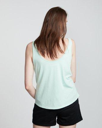 2 Branded Low - Organic Cotton Vest Top for Women Blue S3SGA4ELP0 Element