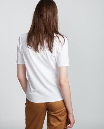 2 Element Logo - T-Shirt manches courtes en coton biologique pour Femme Blanc S3SSA1ELP0 Element