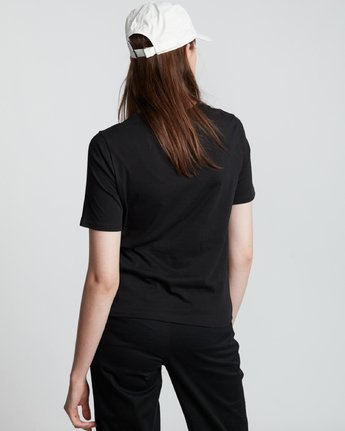 1 Element Logo - T-Shirt manches courtes en coton biologique pour Femme Noir S3SSA1ELP0 Element