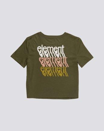 1 Branded Crop - Organic Cotton Short Sleeve T-Shirt for Women Green S3SSA4ELP0 Element