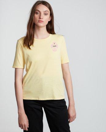 3 Modern - T-Shirt manches courtes en coton biologique pour Femme Jaune S3SSA5ELP0 Element