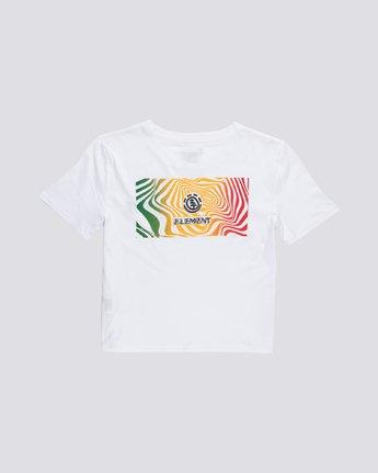 1 Modern Crop - T-Shirt manches courtes en coton biologique pour Femme Blanc S3SSA6ELP0 Element