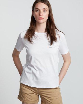 3 Nat Geo - T-Shirt manches courtes en coton biologique pour Femme Blanc S3SSA7ELP0 Element