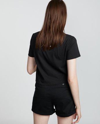 2 Nat Geo Crop - Organic Cotton Short Sleeve T-Shirt for Women Black S3SSA8ELP0 Element