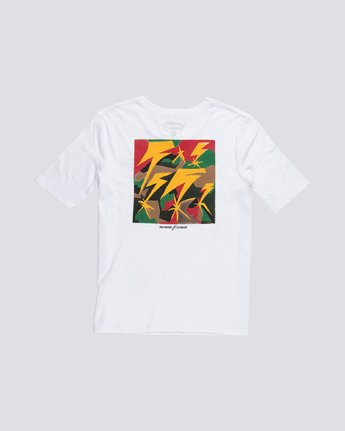 3 Bad Brains - Organic Cotton Short Sleeve T-Shirt for Women White S3SSB2ELP0 Element