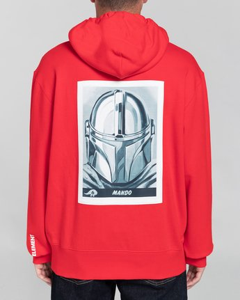 4 Star Wars X Element Mando - Sudadera con Capucha para Hombre Rojo U1HOF5ELF0 Element