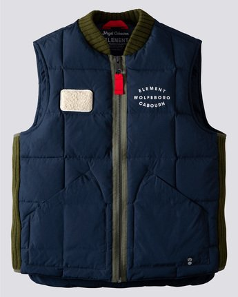 Nigel Cabourn Fishing Down - Sleeveless Insulator Vest for Men  U1JKB6ELF0