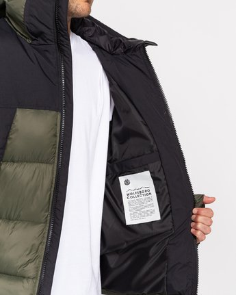 3 Wolfeboro Dulcey - Water-Resistant Jacket for Men Green U1JKD6ELF0 Element