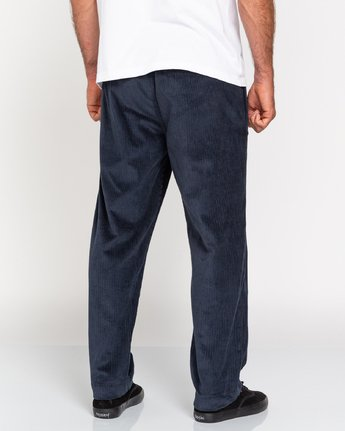 5 Chillin' - Corduroy Trousers for Men Blue U1PTC2ELF0 Element