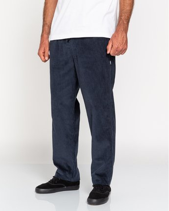 3 Chillin' - Corduroy Trousers for Men Blue U1PTC2ELF0 Element