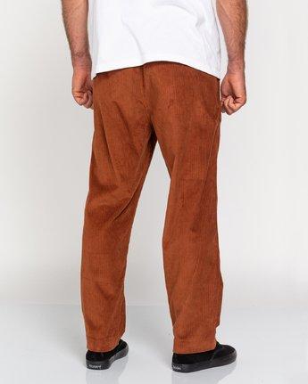 5 Chillin' - Corduroy Trousers for Men Red U1PTC2ELF0 Element