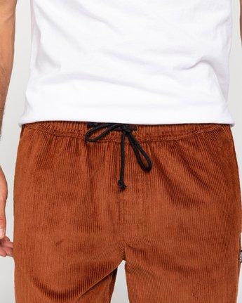 4 Chillin' - Corduroy Trousers for Men Red U1PTC2ELF0 Element