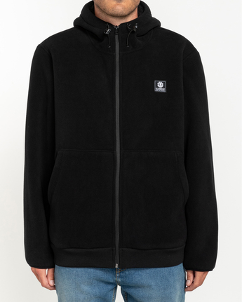 1 Wolfeboro Greenland - Zip-Up Hoodie for Men Black U1WAA8ELF0 Element