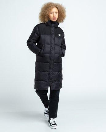 3 Wolfeboro Dulcey Puff Long - Puffer Jacket for Women Black U3JKA7ELF0 Element
