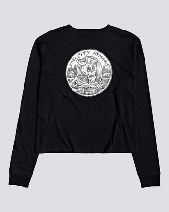 0 Timber! The Remains B Side Crop - Long Sleeve T-Shirt for Women Black U3LSA1ELF0 Element