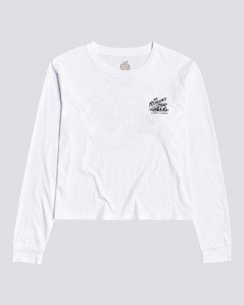 1 Timber! The Remains B Side Crop - T-shirt manches longues pour Femme Blanc U3LSA1ELF0 Element