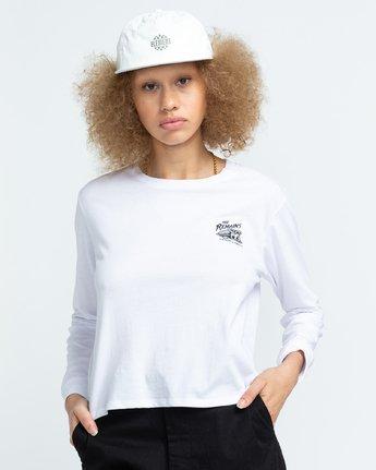 3 Timber! The Remains B Side Crop - T-shirt manches longues pour Femme Blanc U3LSA1ELF0 Element