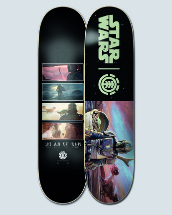 "Star Wars X Element 8"" Mandalorian Hunter & Prey - Skateboard Deck  U4DCK3ELF0"